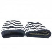 ☆ Gucci 古馳 Navy White Wool Gloves 深藍色白色羊毛手套 433179 - 217000365